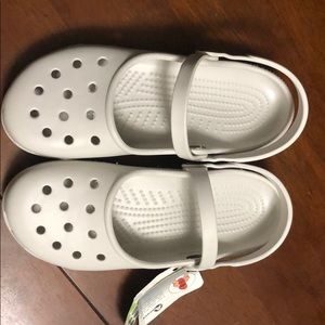 Brand new, never worn Crocs. Mary Jane style.